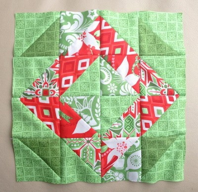 Christmas wreath block