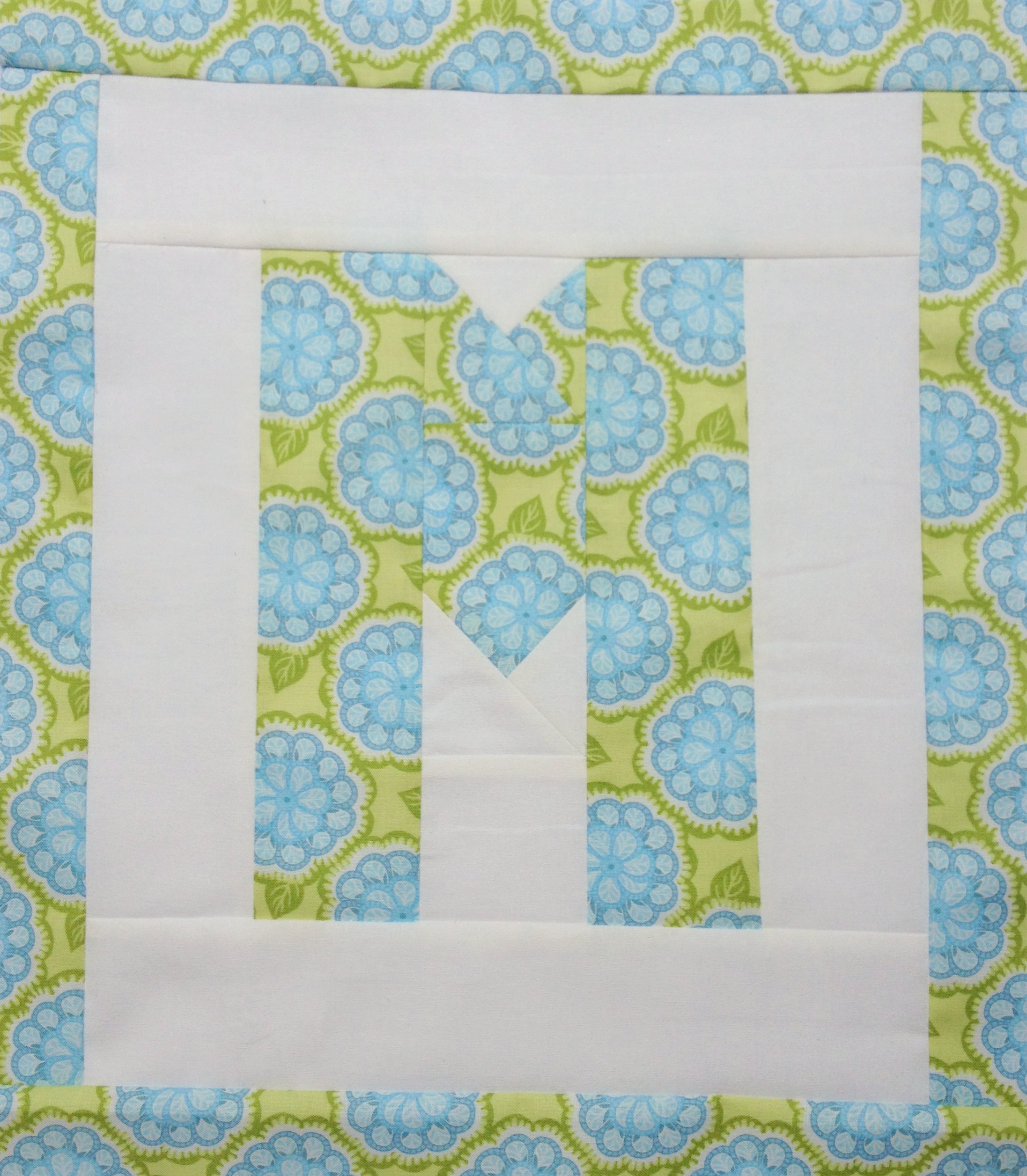 Easy As Abc Qal Letter M Blossom Heart Quilts