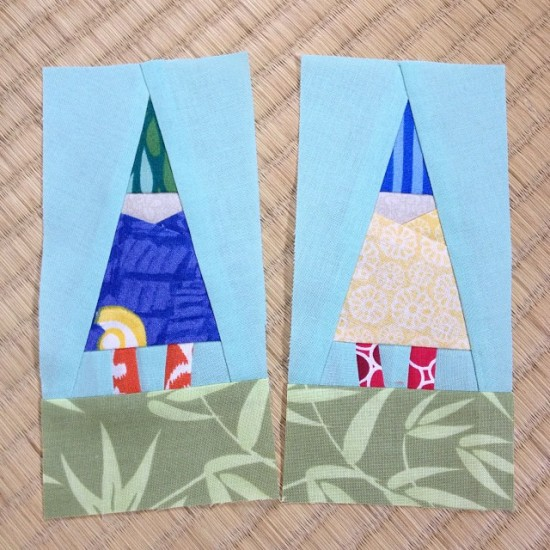 Gnomelings quilt block