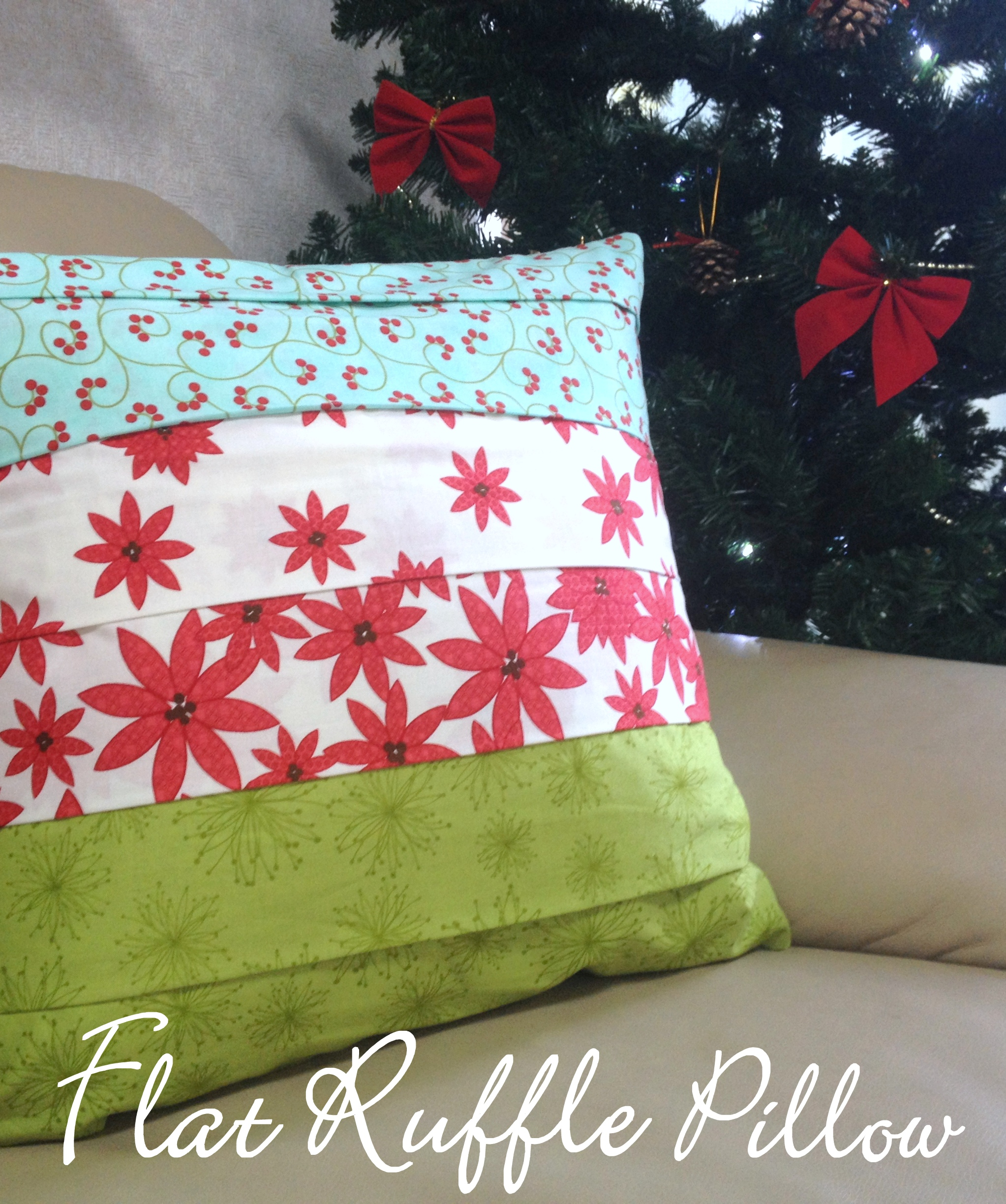 A Cushion For Christmas – A Flat Ruffle Pillow Tutorial