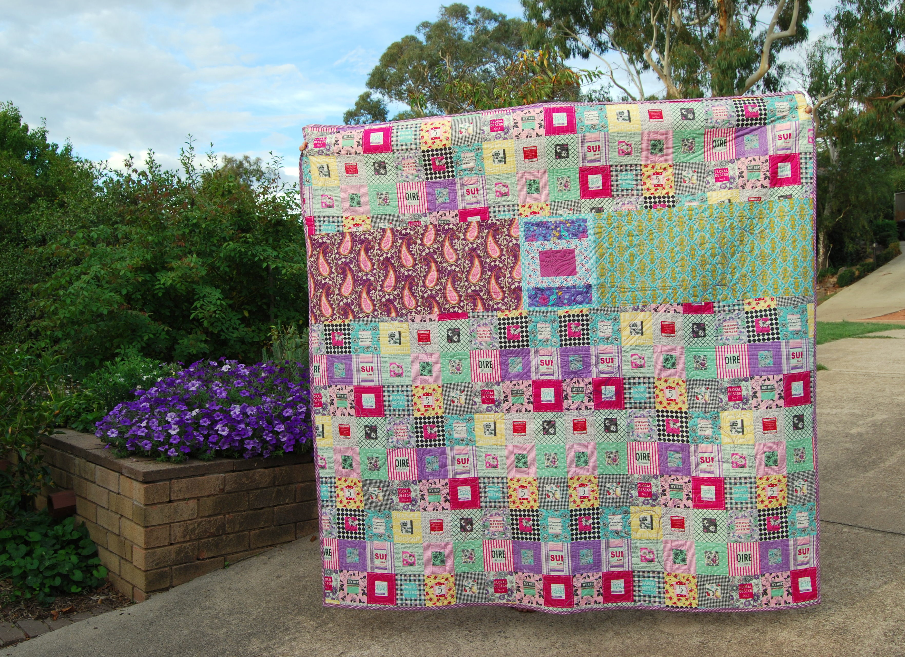 Bright Sky quilt backing