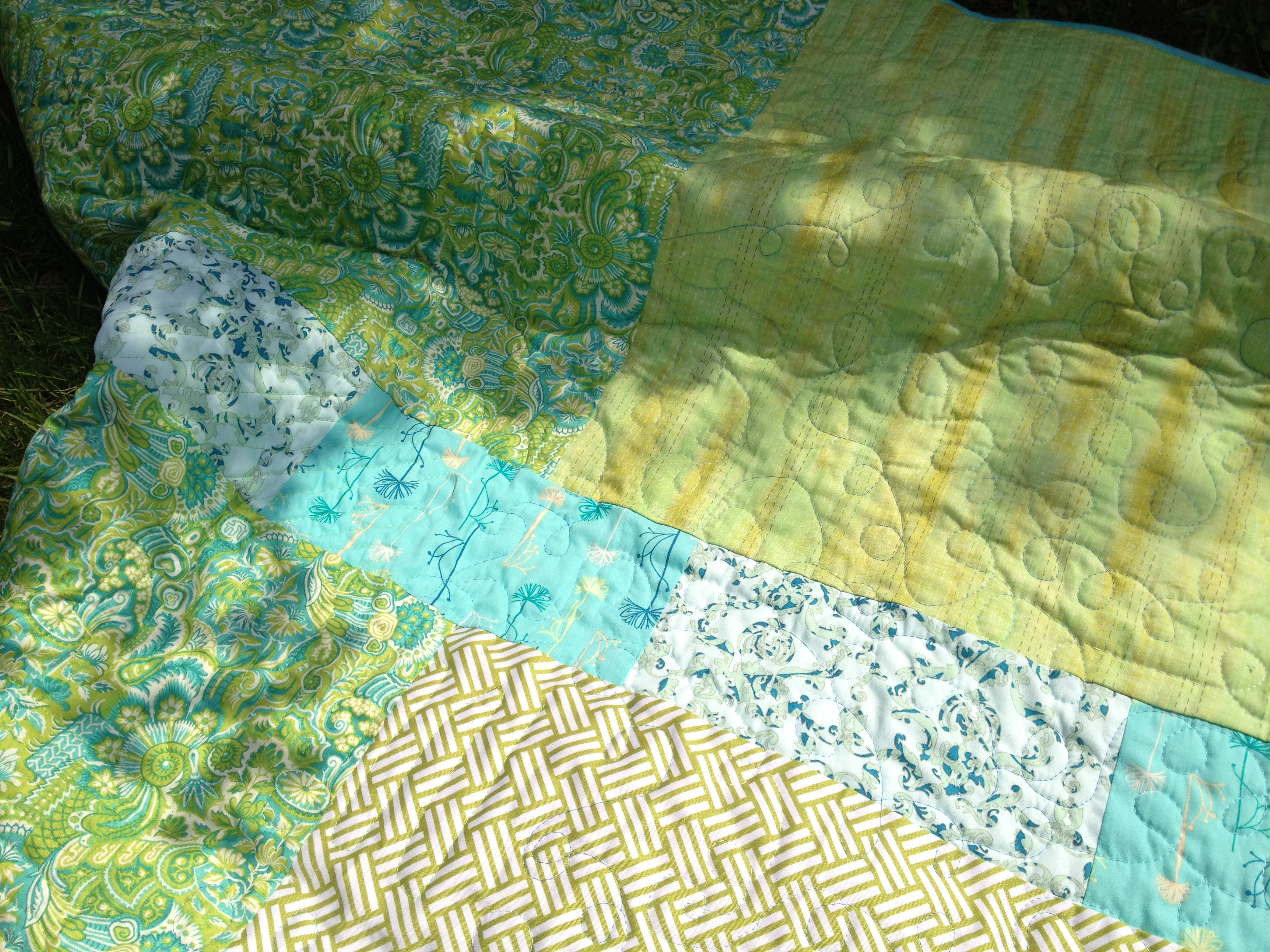 Lala Salama quilt back close up