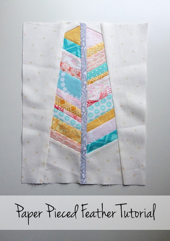 Free Feather Block Pattern + Paper Piecing Tutorial
