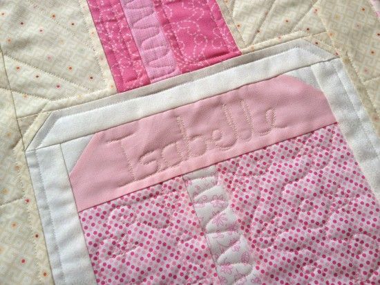 Free motion quilting writing