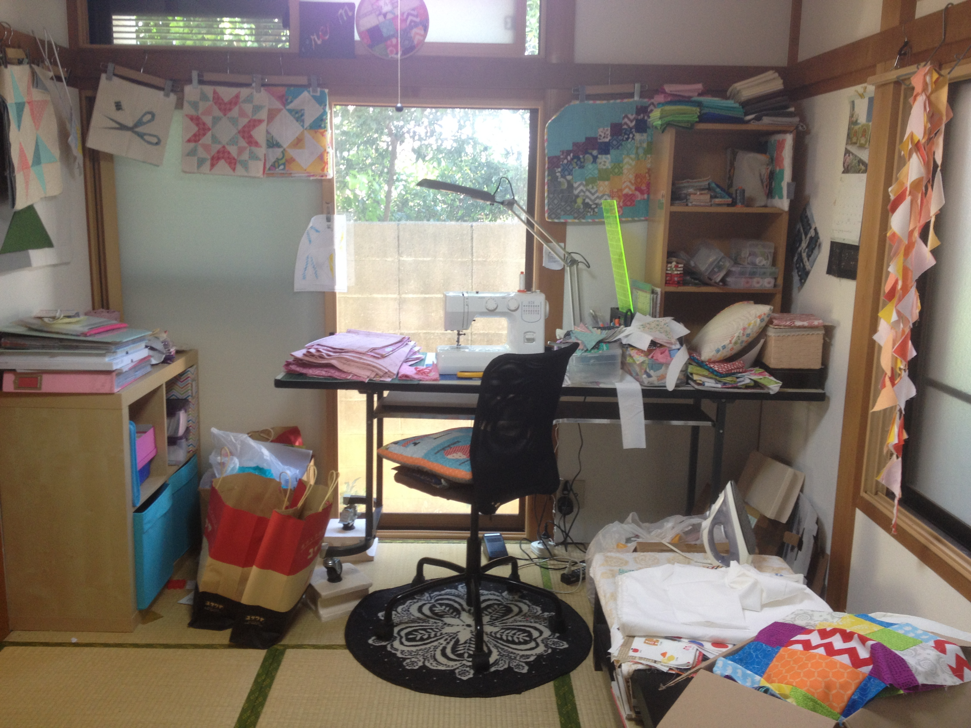 Messy sewing space