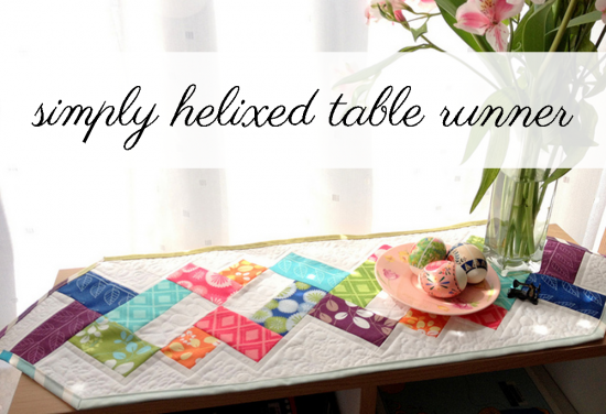 simply helixed table runner tutorial