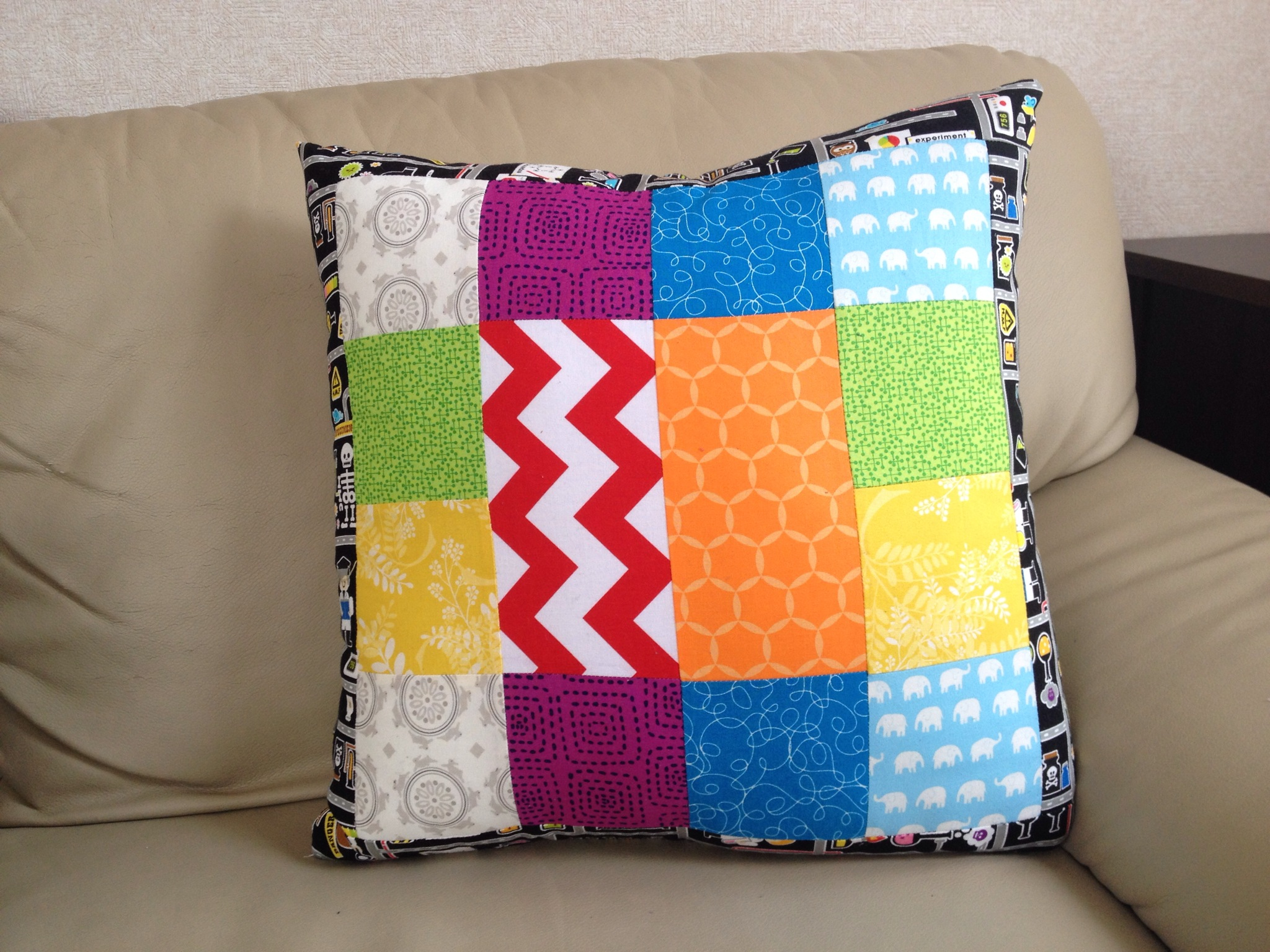 sewing pillow with kids