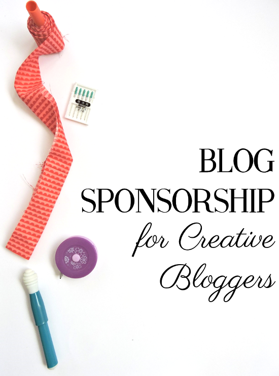 Blog Sponsorship for Creative Bloggers: Valuing Yourself As A Blogger