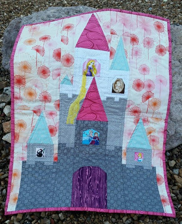Disney Mini Quilt - Sleeping Beauty's Castle | Blossom Heart Quilts : disney quilts - Adamdwight.com