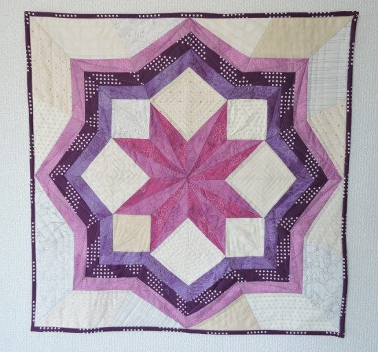 Happy Star mini quilt
