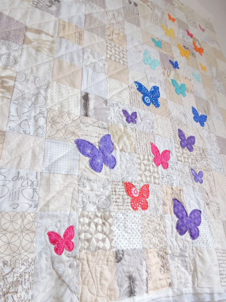 Butterfly swarm quilt