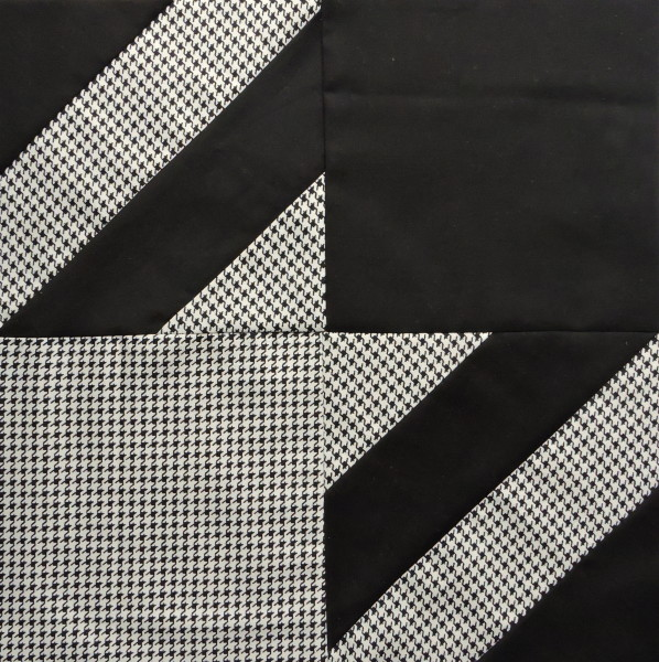Houndstooth quilt block tutorial