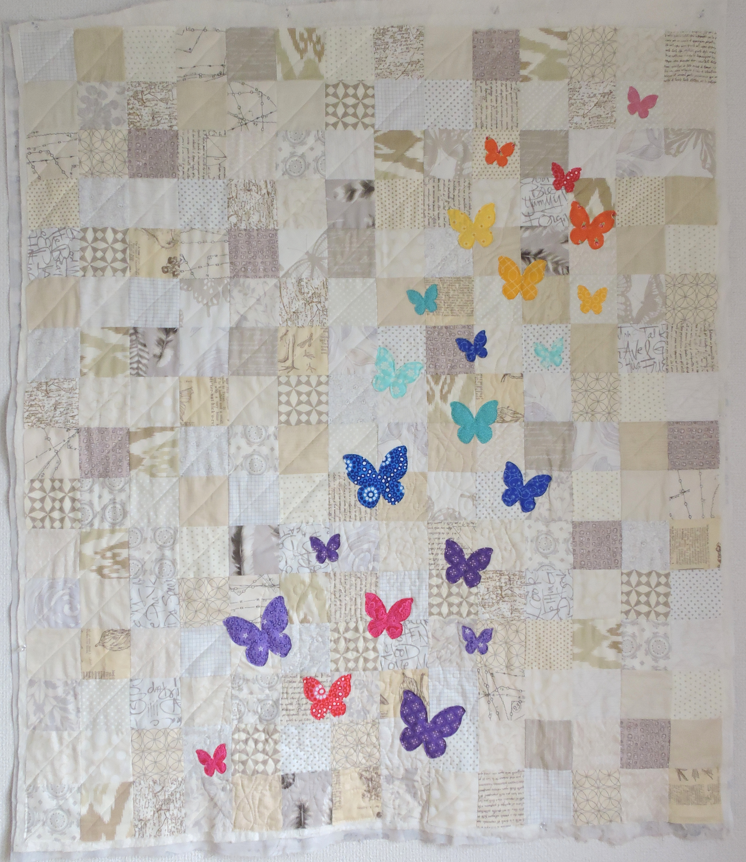 Swarm – A Butterfly Rainbow Quilt