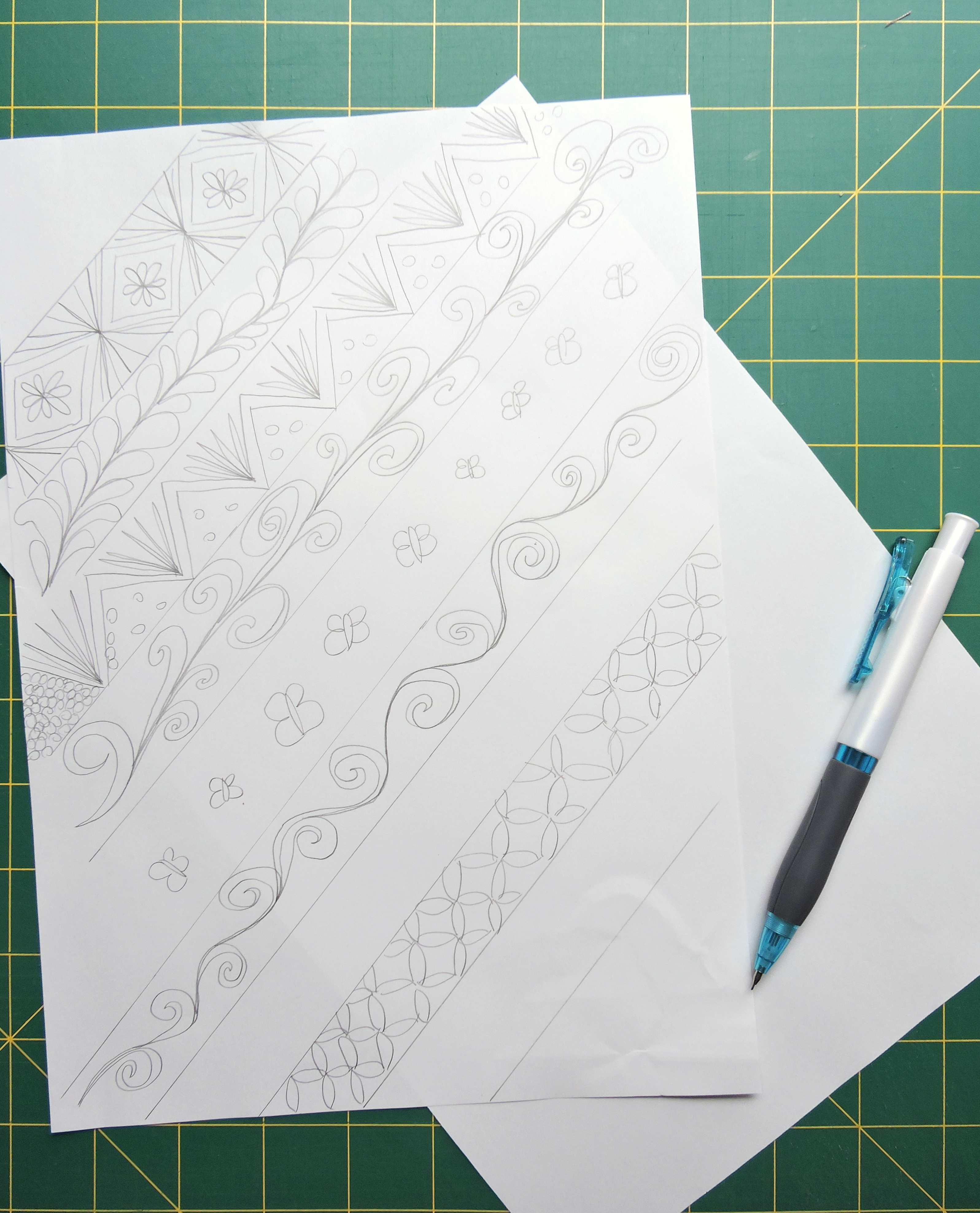 Planning My Free Motion Quilting