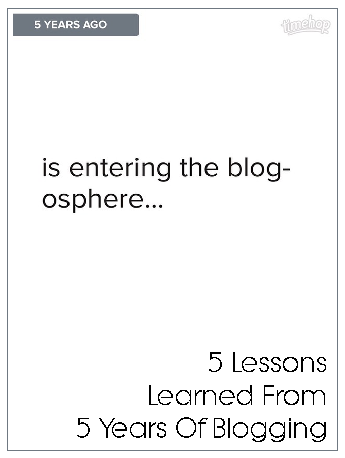 5 Lessons I've Learned From 5 Years Of Blogging
