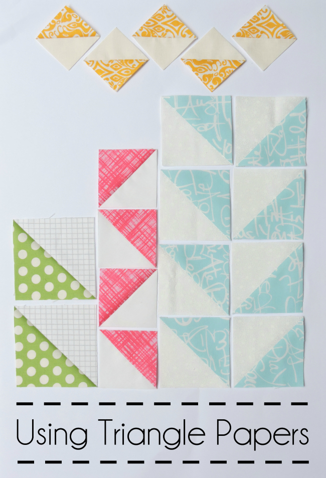 Using triangle papers tutorial