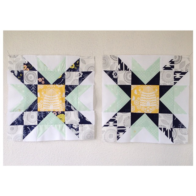 #thebeehivequilts: Spinwheel and Double Star