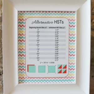 Sunshine HST chart printable alternative