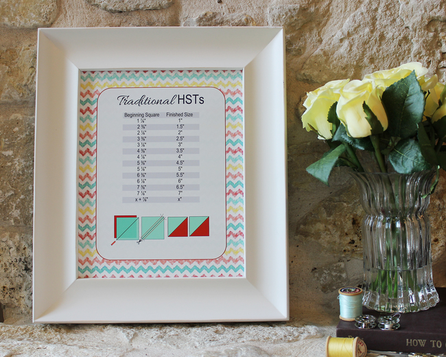 Traditional HST chart printable