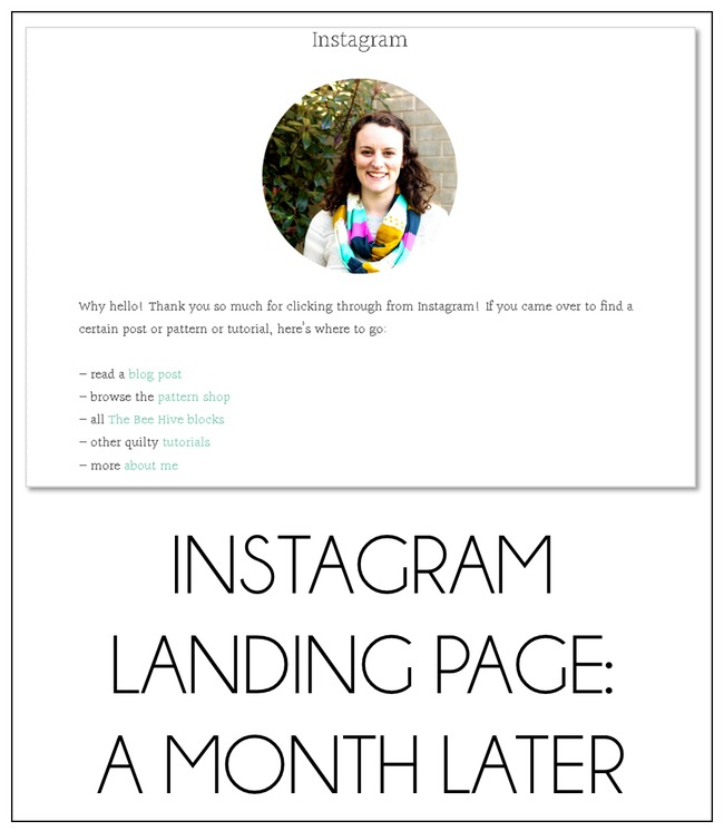 Instagram Landing Page: A Month Later