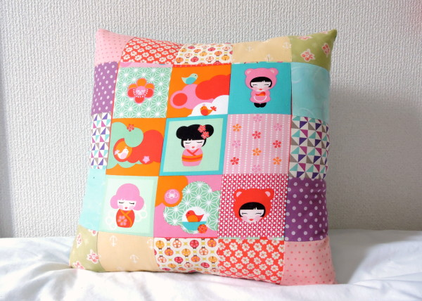 Japanese rainbow pillow