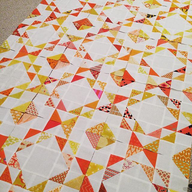 Ripples quilt block top andreasalisbury