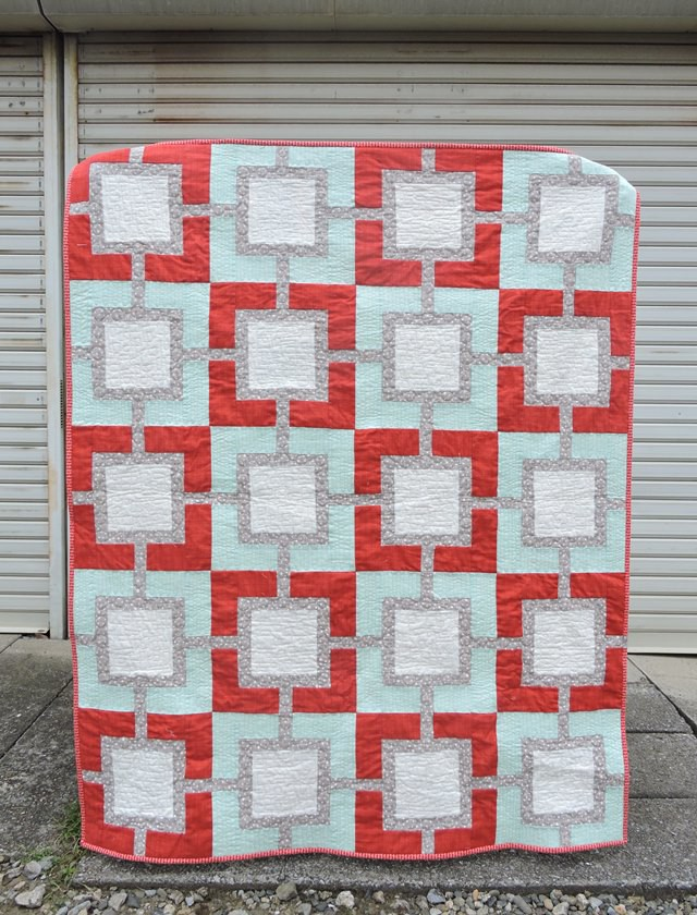 Pearl Gray quilt front