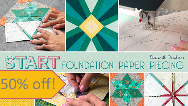 Start Foundation Paper Piecing Class sale