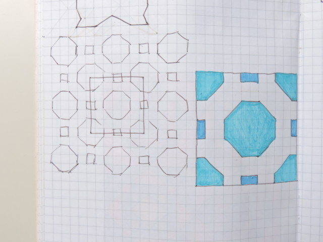 magic 8 ball quilt design sketch