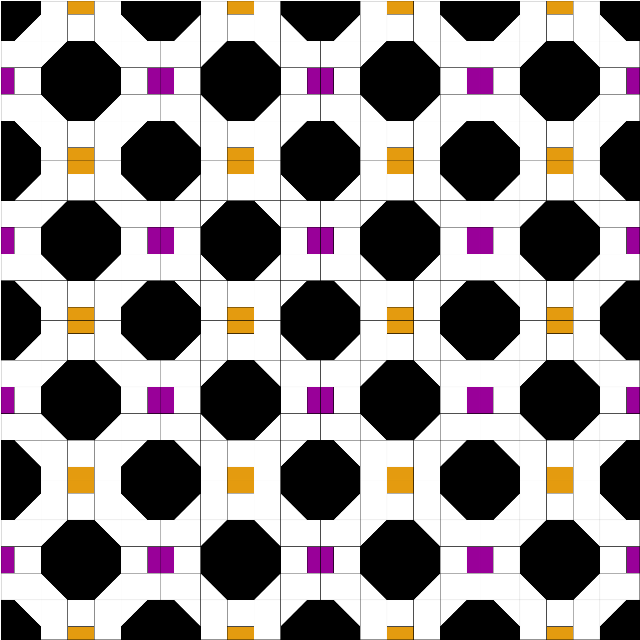 magic 8 ball quilt design two tone