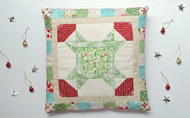 Christmas Star pillow tutorial