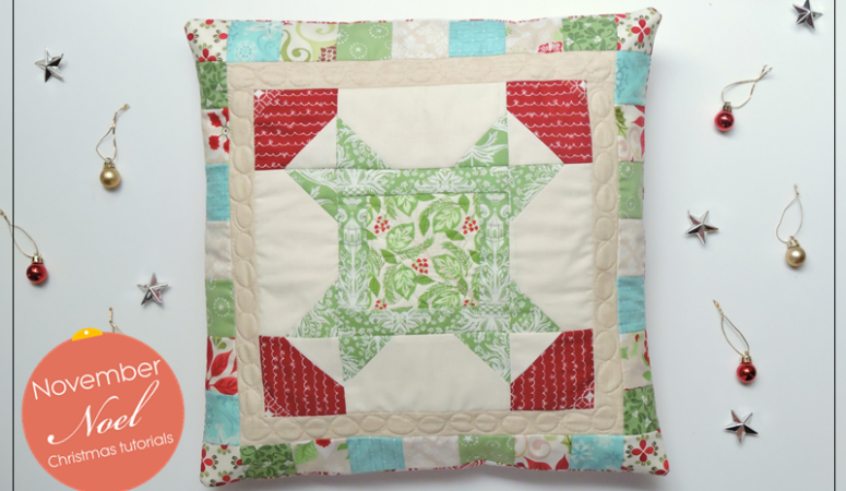 November Noel: A Christmas Star Quilt Block