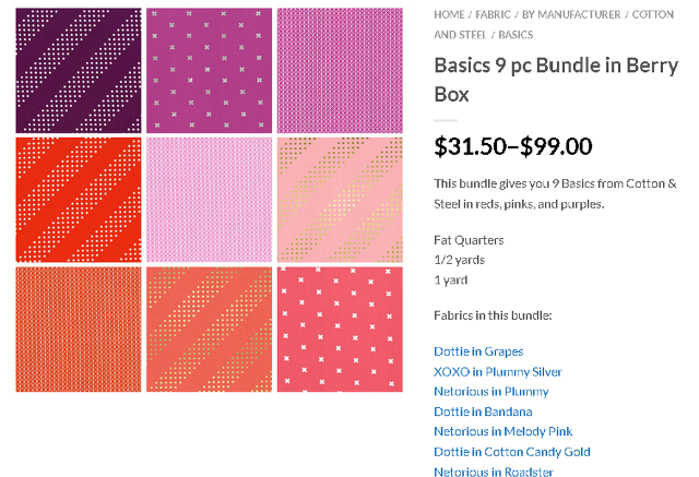 Cotton Steel berry bundle gotham quilts