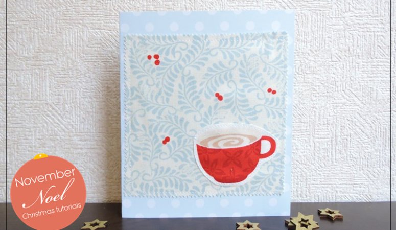 Fabric Scrap Christmas Cards