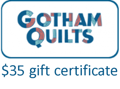 Gotham Quilts giveaway voucher