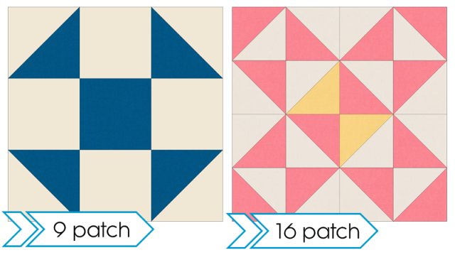 9 patch and 16 patch block examples