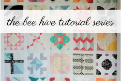 the bee hive quilt block tutorial