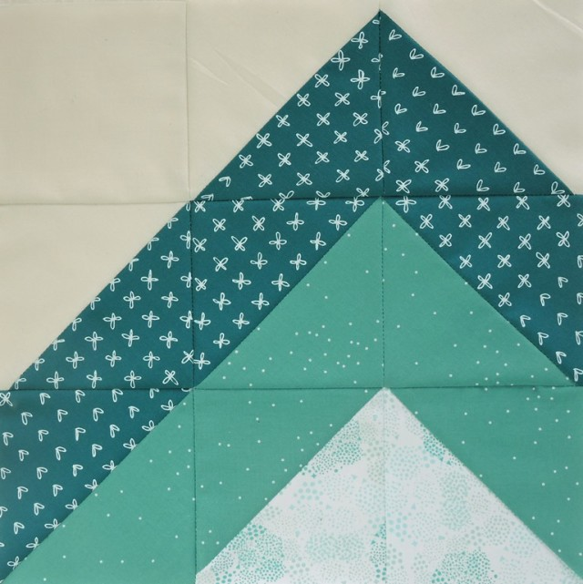 Modern HST Sampler quilt block Mountain