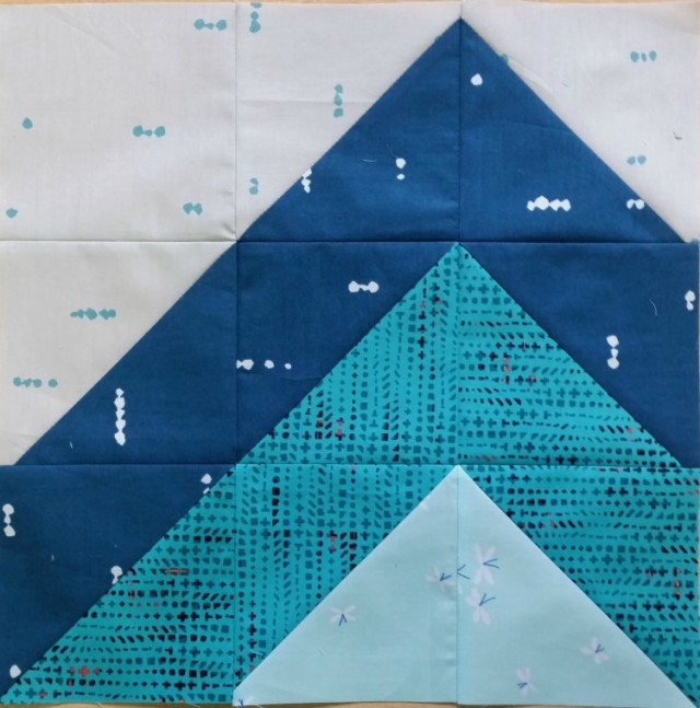 Mountain Modern HST Sampler quilt block