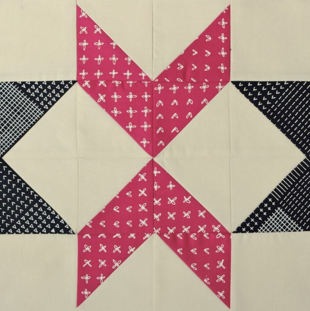 Modern HST Sampler Pointed quilt block