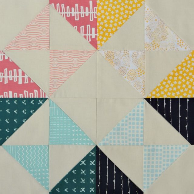Modern HST Sampler quilt block Intersection