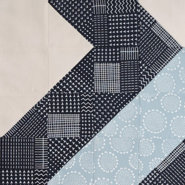 Modern HST Sampler Diagonal quilt block tutorial