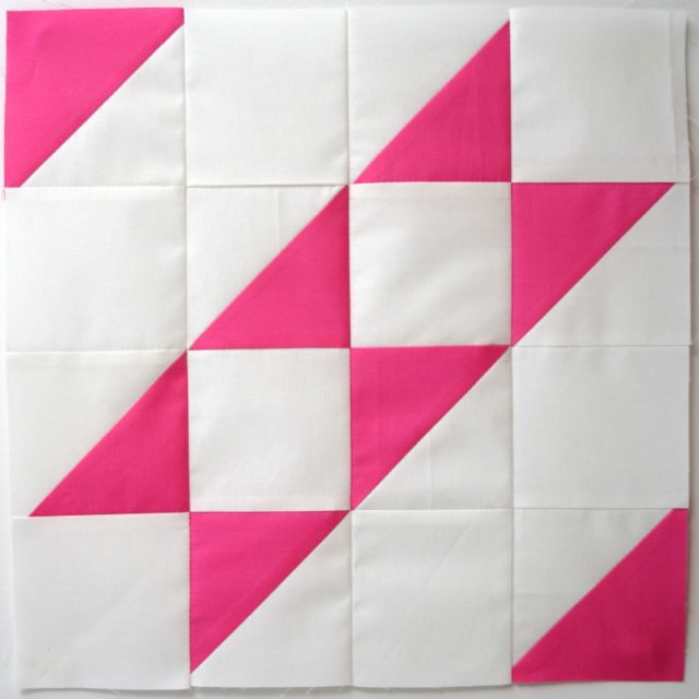 Modern HST Sampler Faceted Stripe quilt block tutorial