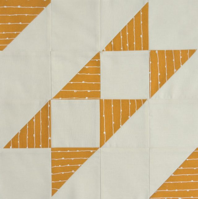 Modern HST Sampler quilt block Faceted Stripe