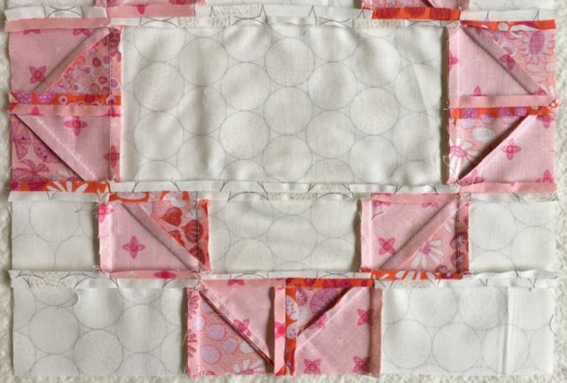 how to nest seams in a quilt block