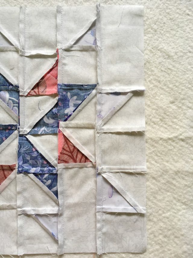 how to nest seams quilt block