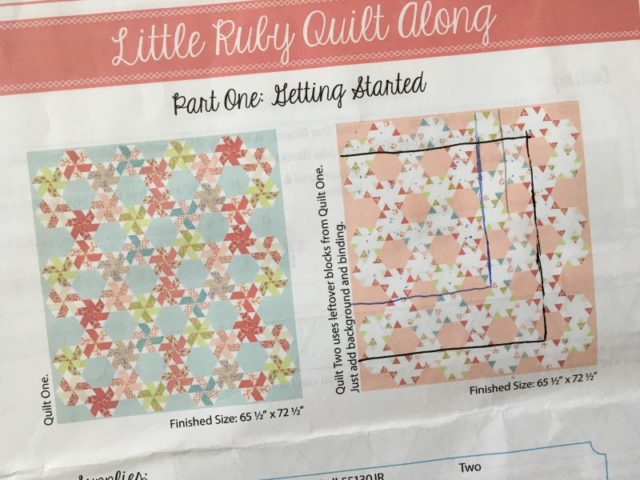 Little Ruby quilt pattern smaller