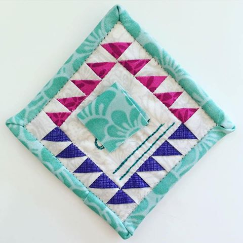 mini mini quilt name tag swap