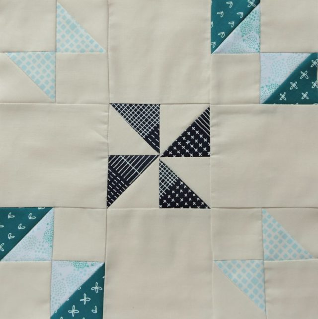 Modern HST Sampler quilt block tutorial Turnstile