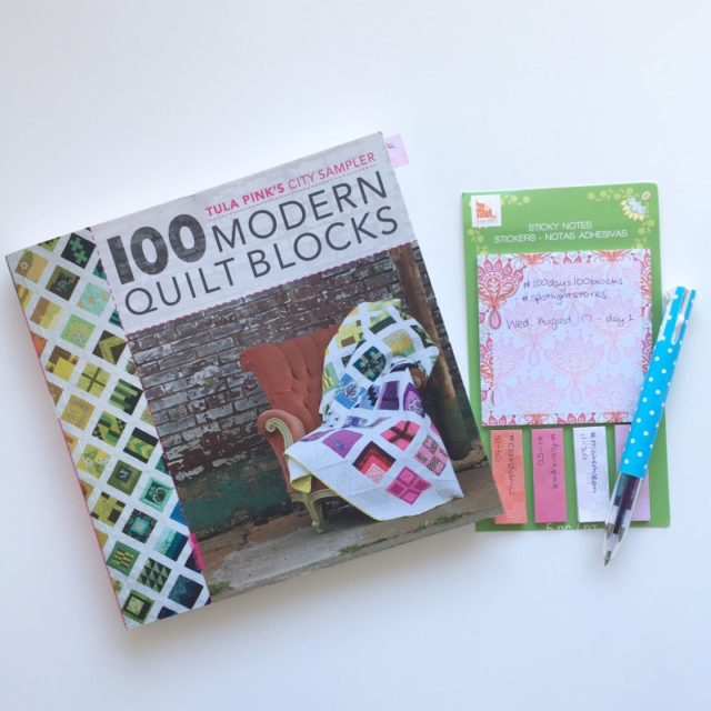 Tula Pink 100 City Sampler blocks